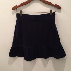 NWT velour navy flare skirt